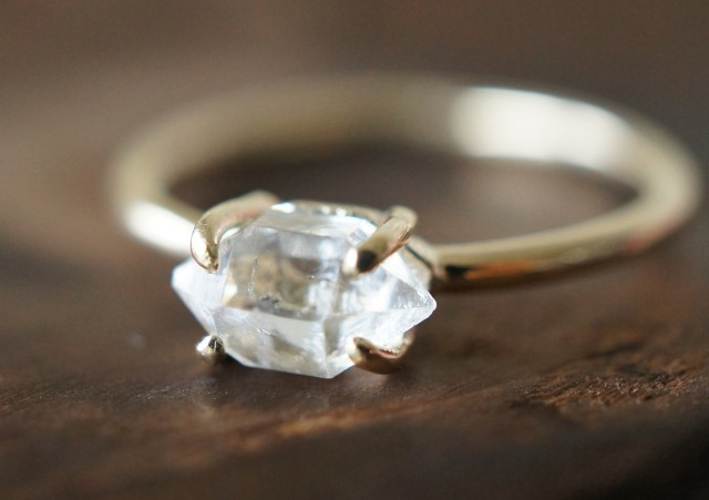 K10 Gold���ϡ����ޡ�����������ɡ���� ~Herkimer Diamond~