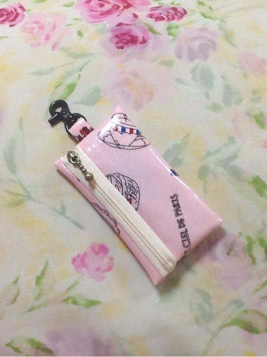 ランドセル用 キーケース☆リール式 CAFE柄