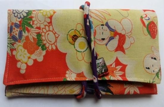 着物リメイク 唐子の四つ身で作った和風お財布 1282
