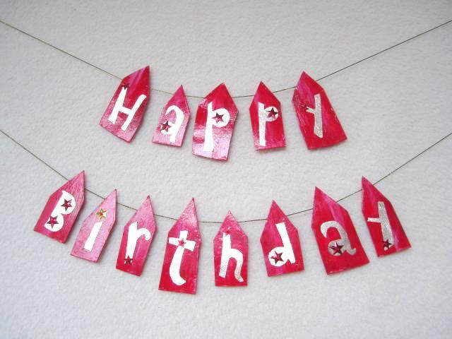 Happy Birthday Garland ���֤��ȡ�