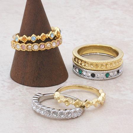 再々々販!!フルオーダーOK!!☆スワロフスキーのオーダーメイドリング☆指輪☆