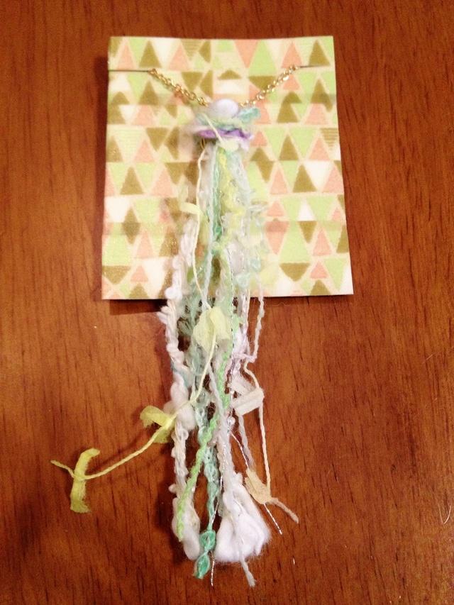 送料無料! きらふわ毛糸のネックレス.。.:*☆