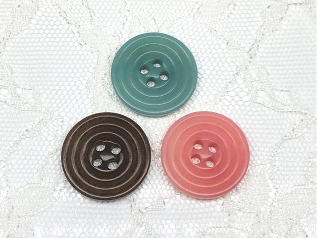 ボタン:平丸型(M)/ミックス/計3コ入<33>