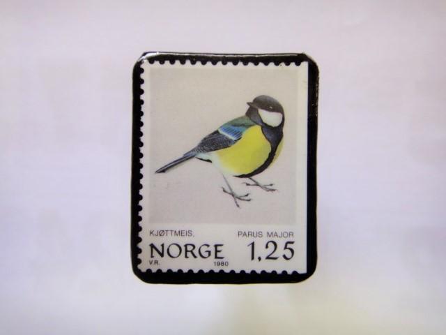 ノルウエー 切手ブローチ1015