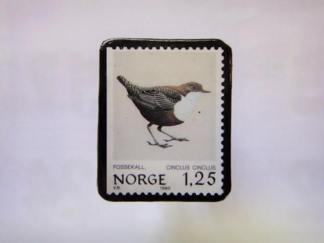 ノルウエー 切手ブローチ1016