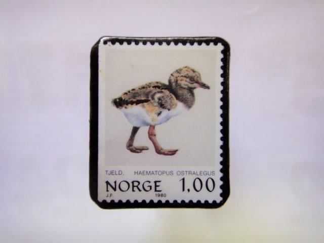 ノルウエー 切手ブローチ1017