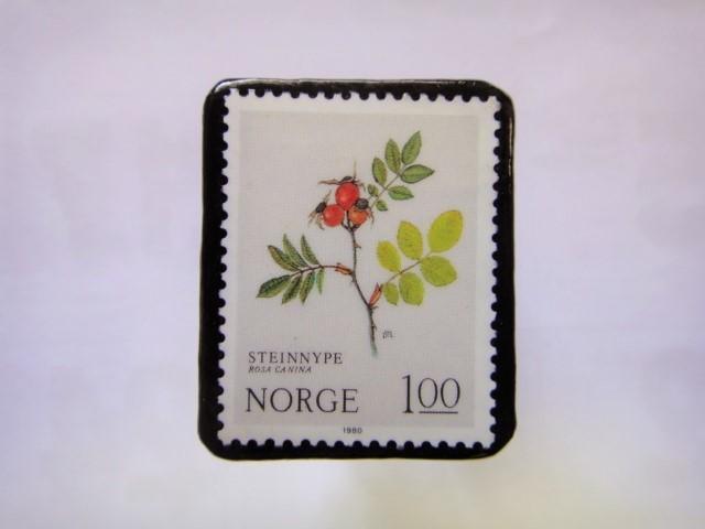 ノルウエー 切手ブローチ1019