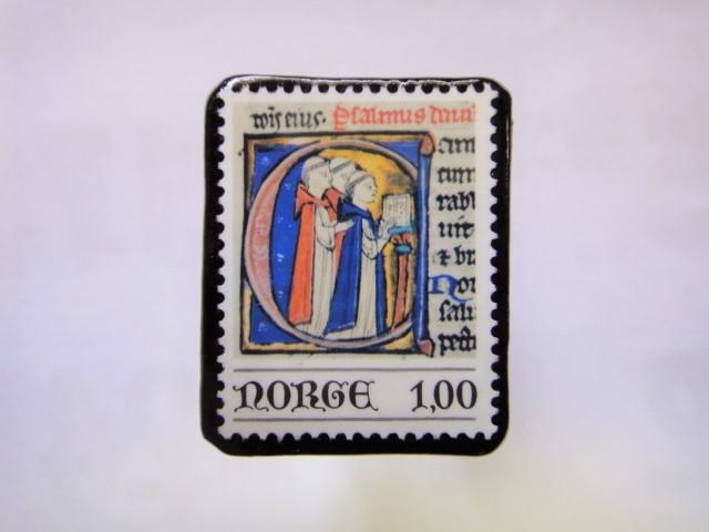 ノルウエー 切手ブローチ1020