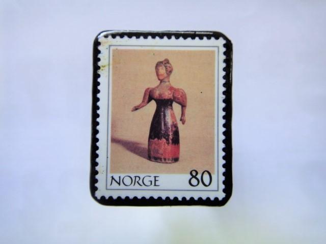 ノルウエー 切手ブローチ1021