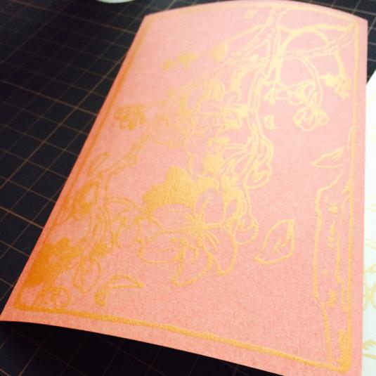 枝垂れ桜のポストカード