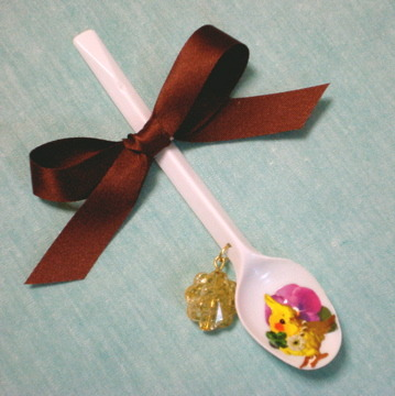 spoonブローチ(インコ)