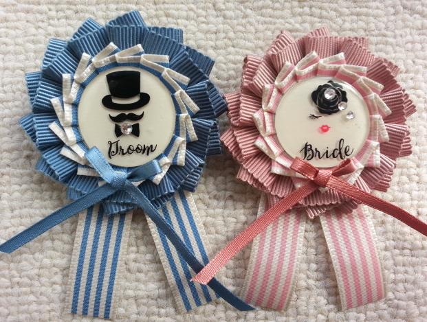 Bride&Groomロゼット♡ (ブライダルロゼット2個セット)