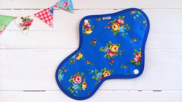 可愛い布ナプキン『bluegarden』昼用Lサイズ