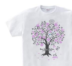 【再販】チェリーブロッサム・パンダ WS〜WM?S〜XL Tシャツ【受注生産品】