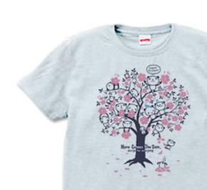 【再販】チェリーブロッサム・パンダ S〜XL  Tシャツ【受注生産品】