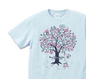 チェリーブロッサム・パンダ S〜XL  Tシャツ【受注生産品】