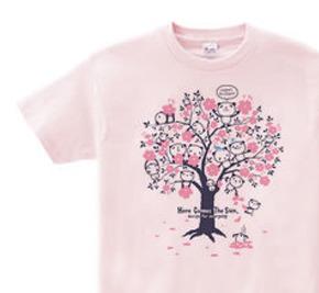 チェリーブロッサム・パンダ WS〜WM?S〜XL Tシャツ【受注生産品】