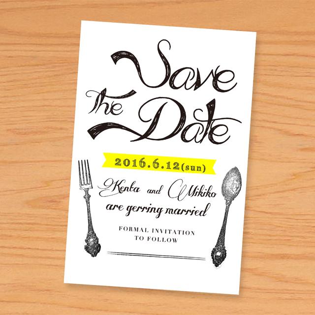 《50枚印刷込》[ Save the date ]ハガキ・デザインオーダー