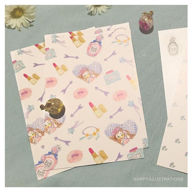 ポストカード 2枚組み /  Cheri / dreaming