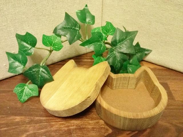 木製☆猫の小箱☆ナチュラル
