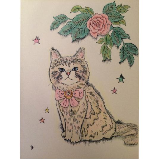 バラと猫ポストカードセット