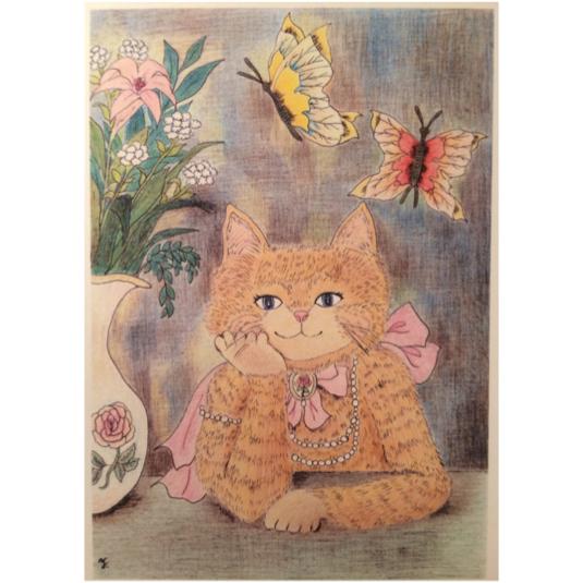 微笑む猫ポストカードセット