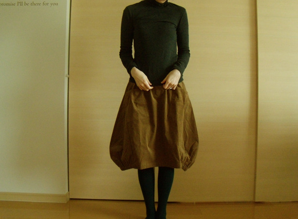 送料無料*ふんわりバルーンスカート(ミルクチョコレート)