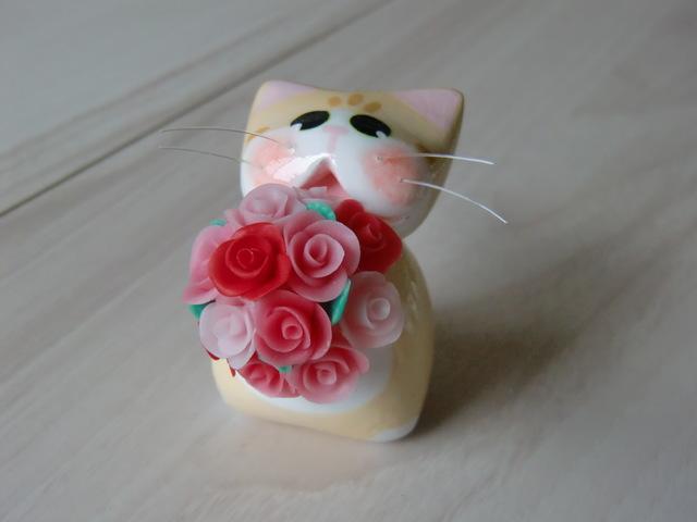 送料無料♪ 花束?ネコ