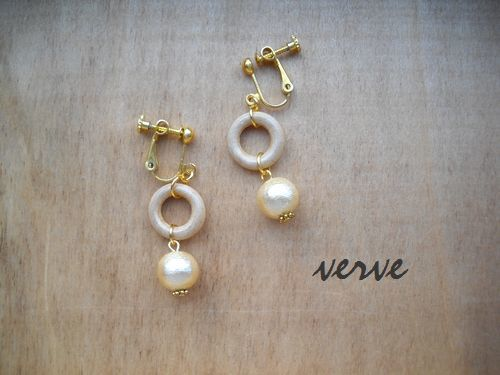 WOOD×COTTON P/G EARRINGS