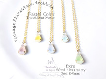 大好評人気! [Vintage Stone] Pastel Color Matte Drop Necklace