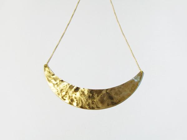 (再販)真鍮の三日月ネックレス