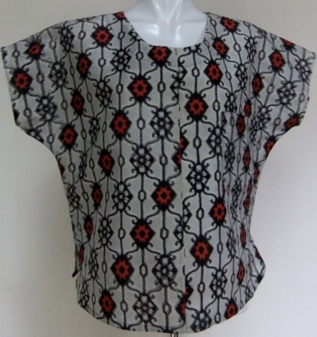 着物リメイク 銘仙の着物で作ったTシャツ 1298