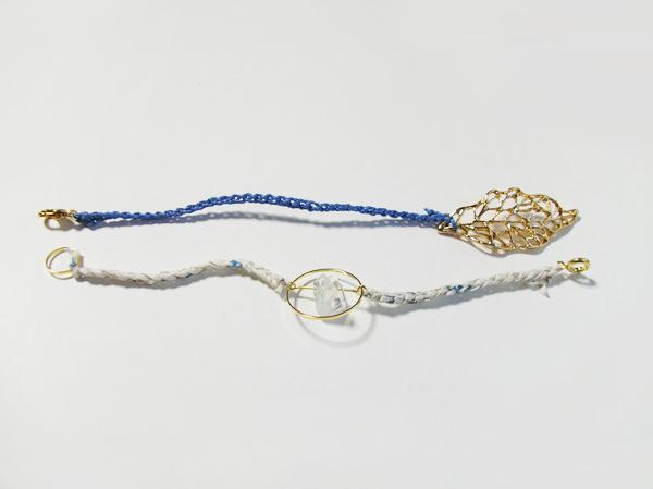 (再販)2色の鎖編み糸のブレスレット 2