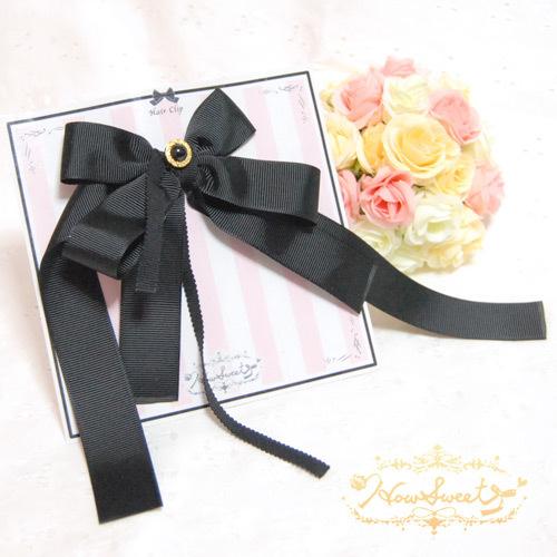 【HowSweet*】Asymmetry Ribbon HC*[Black]