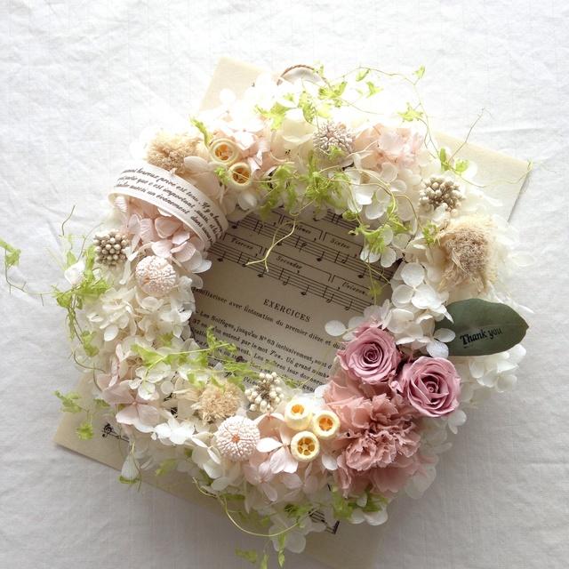 """Thank you Mom"" wreath"
