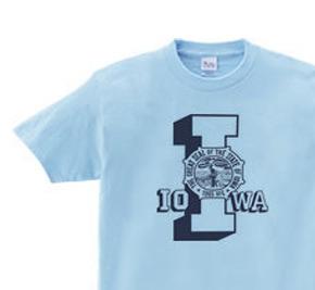 アイオワ  オールドスクール風カレッジ  I&マーク WS〜WM?S〜XL Tシャツ【受注生産品】