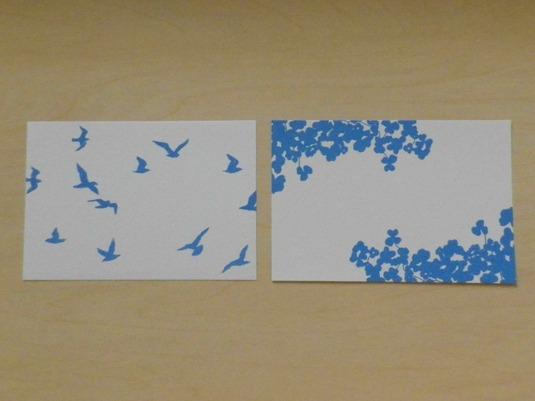 ポストカード/鳥/かたばみ