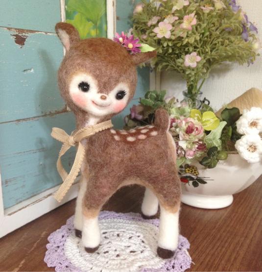 バンビ  羊毛フェルト