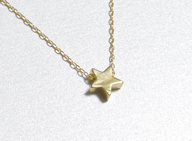 ひとつぶ星のネックレス