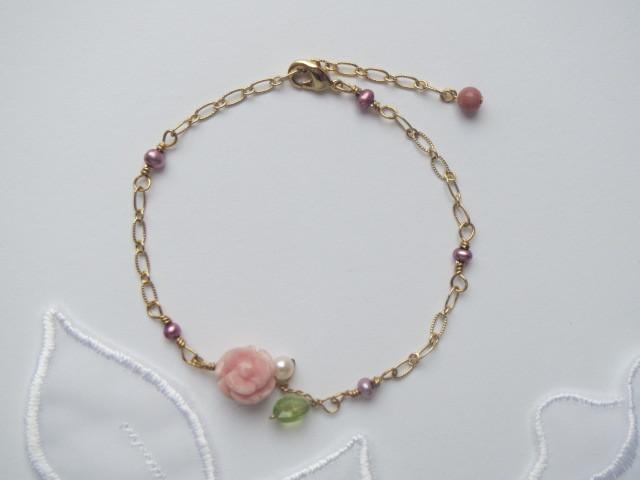 インカローズ薔薇のブレスレット