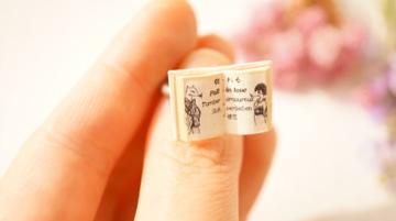 豆本 指輪 狐の娘「恋の病」リング