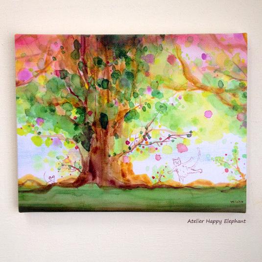 大きな木の下で 《F6キャンバスプリント版》