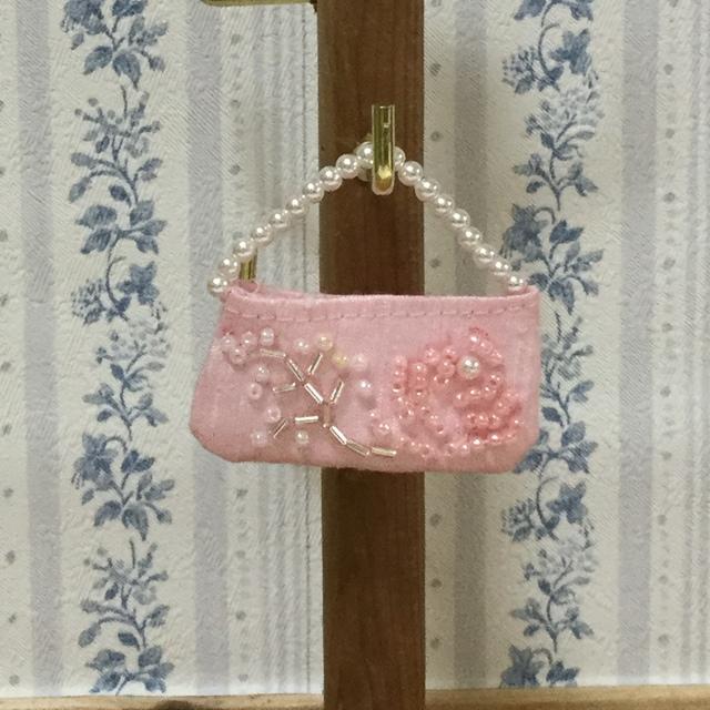 1/6ドール用 ビーズ刺繍のバッグ(B)