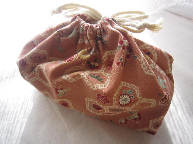 和柄のお弁当袋(ピンク)