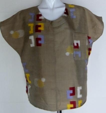 着物リメイク 銘仙の着物で作ったTシャツ 1304