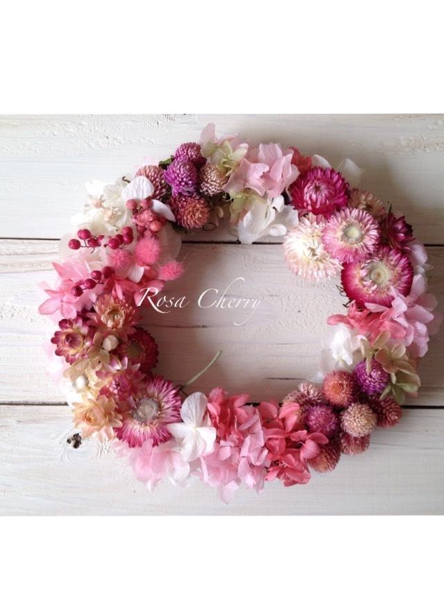 春のあま〜いピンクリース