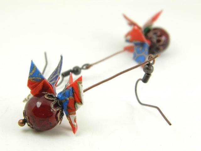 オリガミピアス・蝶(Papillon Y18BOP1DBr)