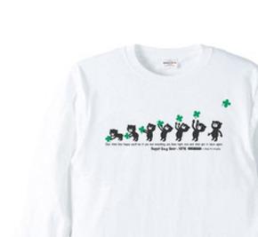 クローバー&イージー☆ベア 長袖Tシャツ【受注生産品】