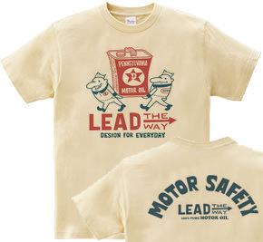 【再販】ビーンズマンとモーターオイル 両面前ビーンズマン+後フォント WS〜WM?S〜XL Tシャツ【受注生産品】