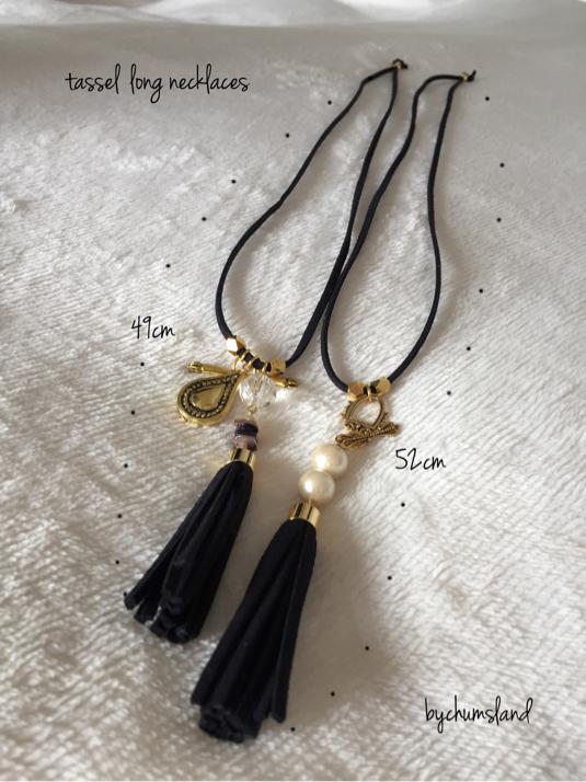 ?chain tassel/long necklaces